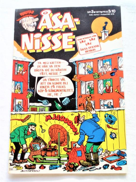 Åsa-Nisse nr 3 1977 mycket bra skick