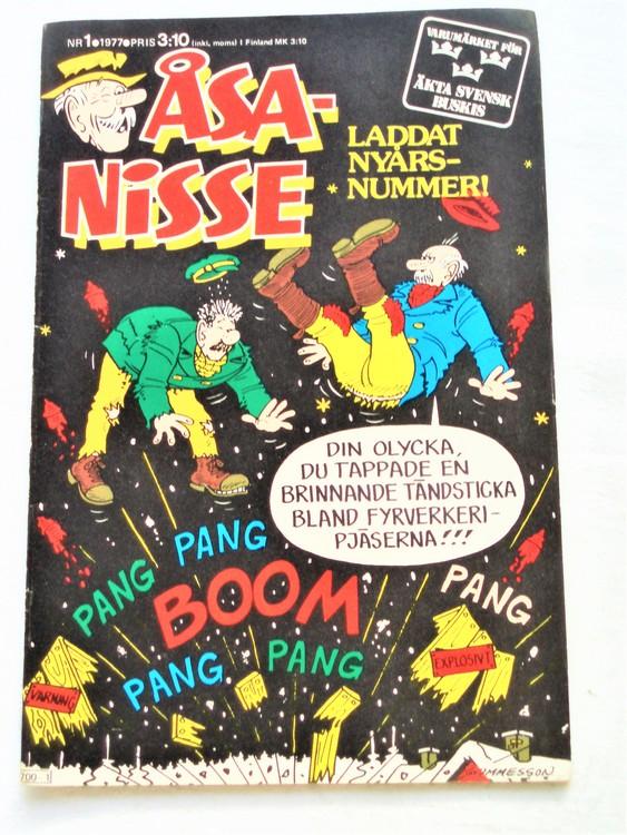 Åsa-Nisse nr 1 1977 mycket bra skick