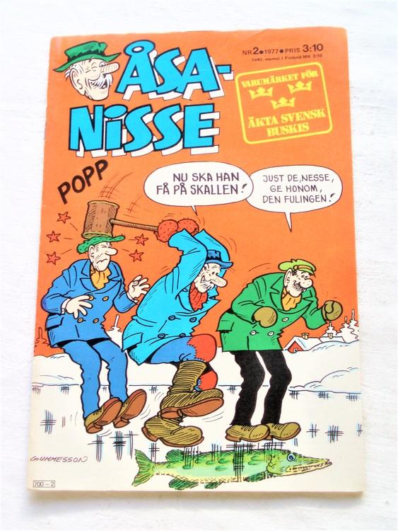 Åsa-Nisse nr 2 1977 mycket bra skick