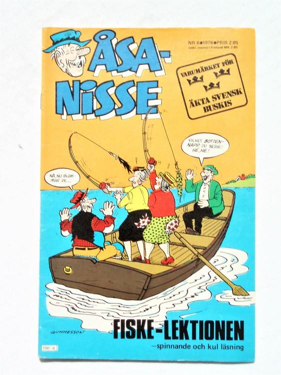 Åsa-Nisse nr 6 1976 normalslitet,normalskick