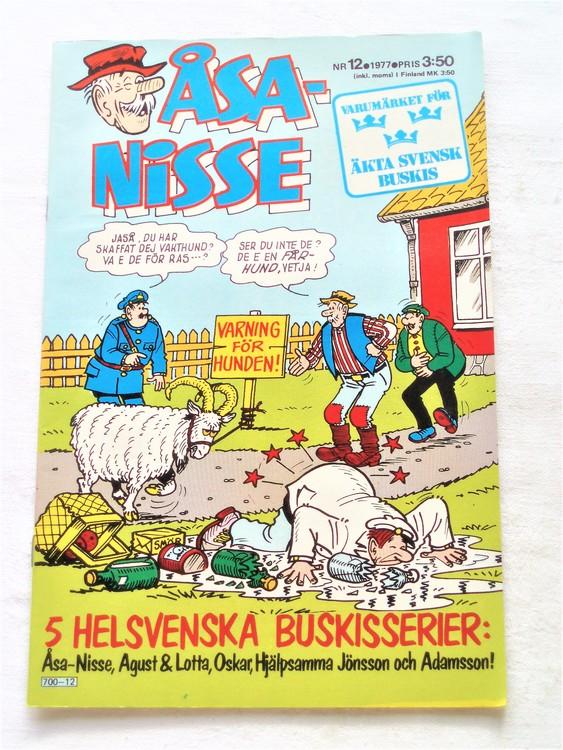 Åsa-Nisse nr 12 1977 mycket bra skick