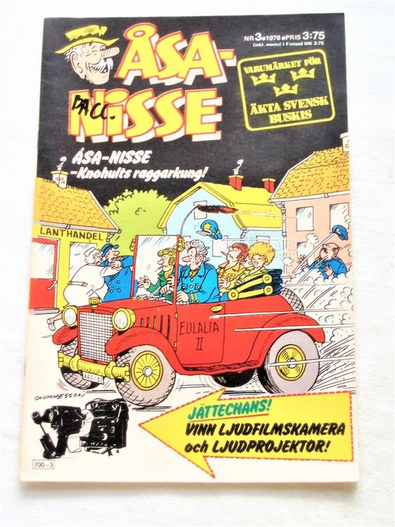 Åsa-Nisse nr 3 1978 bra skick