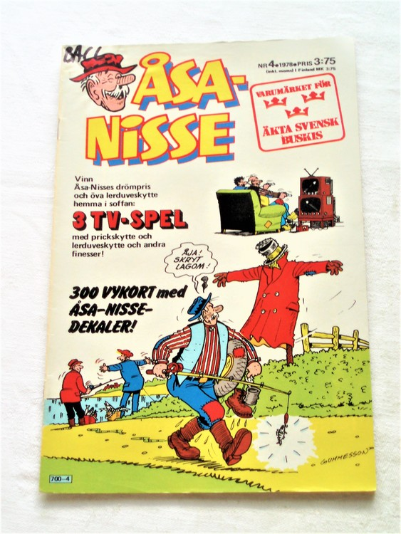 Åsa-Nisse nr 4 1978 bra skick