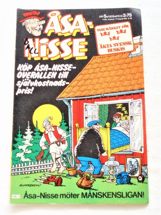 Åsa-Nisse nr 5 1978 bra skick