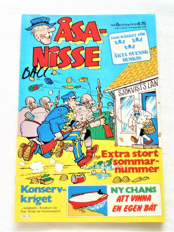 Åsa-Nisse nr 8 1978 bra skick