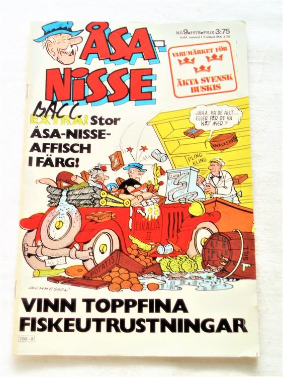 Åsa-Nisse nr 9 1978 bra skick