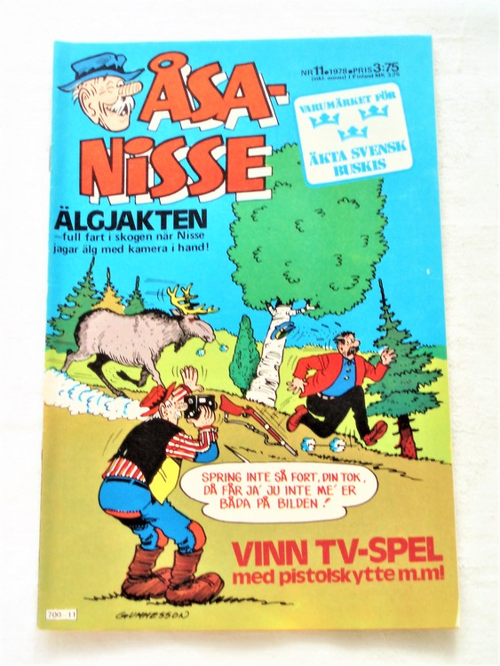 Åsa-Nisse nr 11 1978 mycket bra skick