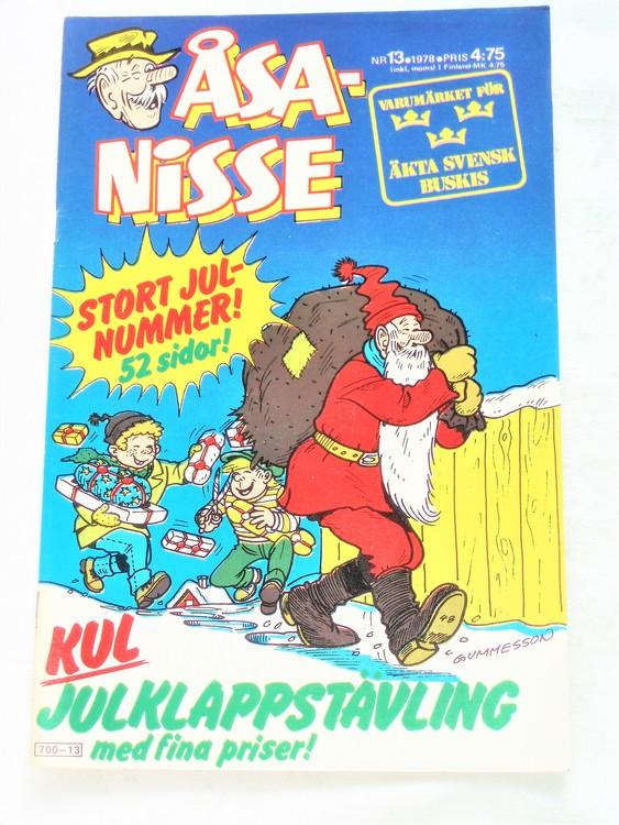 Åsa-Nisse nr 13 1978 mycket bra skick