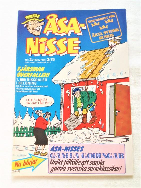 Åsa-Nisse nr 2 1979 mycket bra skick