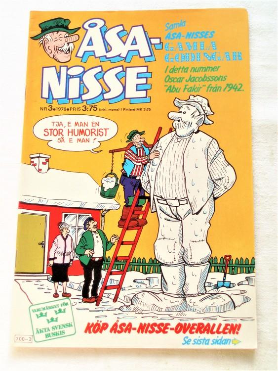 Åsa-Nisse nr 3 1979 mycket bra skick