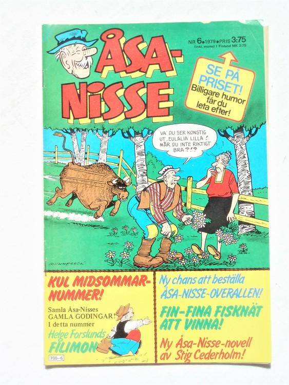 Åsa-Nisse nr 6 1979,normalslitet, normalskick,