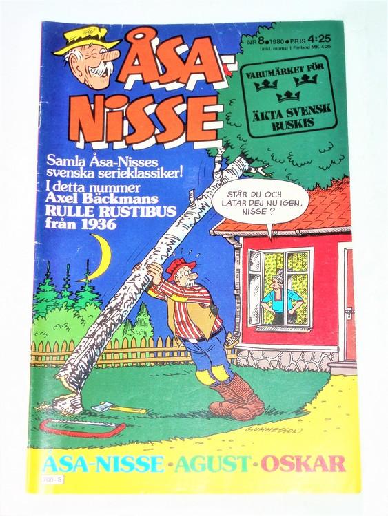 Åsa-Nisse nr 8 1980 mycket bra skick