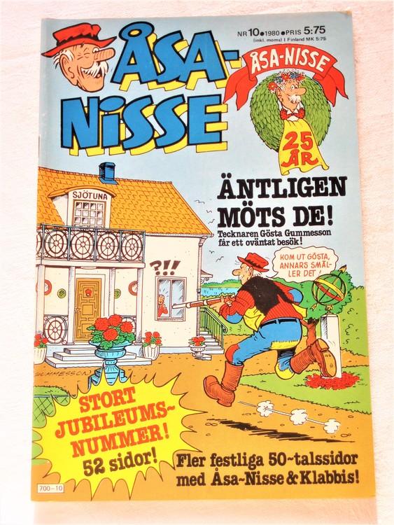 Åsa-Nisse nr 10 1980 mycket bra skick
