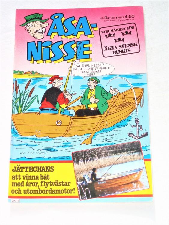 Åsa-Nisse nr 4 1981 mycket bra skick