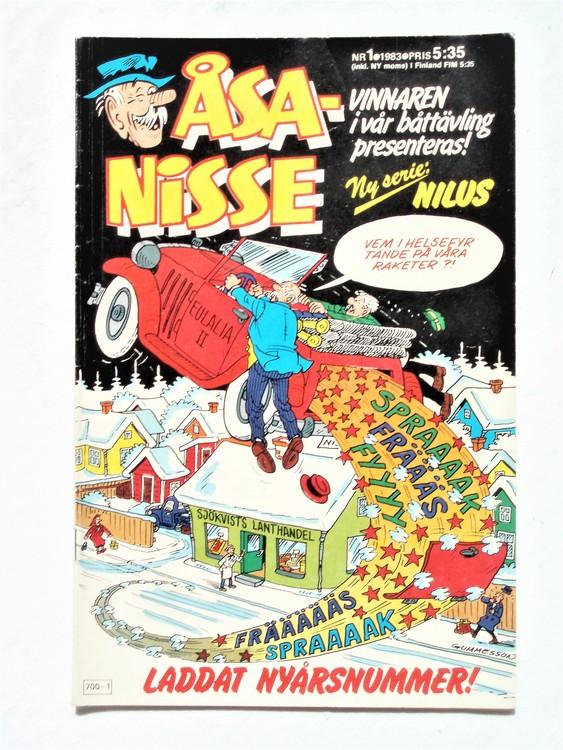 Åsa-Nisse nr 1 1983, korsord ifyllt,normalslitet, normalskick