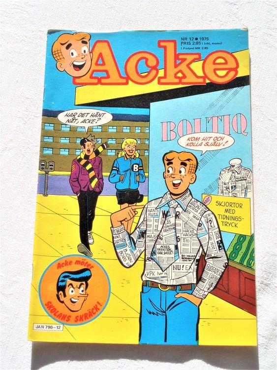 Acke nr 12 1975 bra skick ny skick