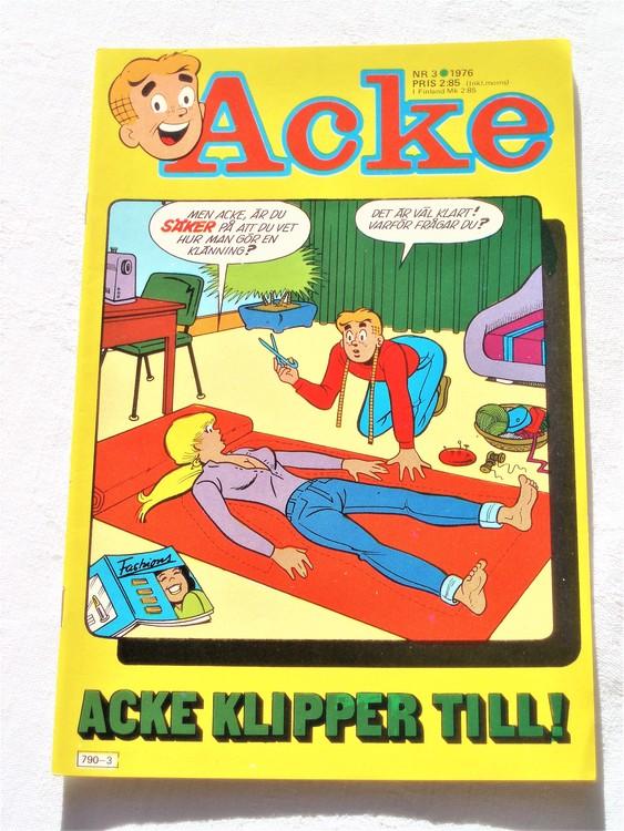 Acke nr 3 1976 mycket bra skick ny skick