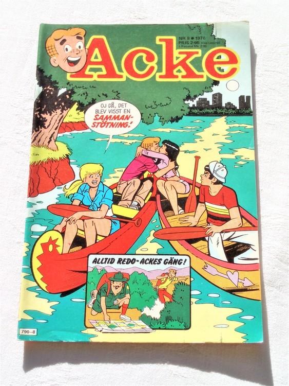 Acke nr 8 1976 mycket bra skick ny skick