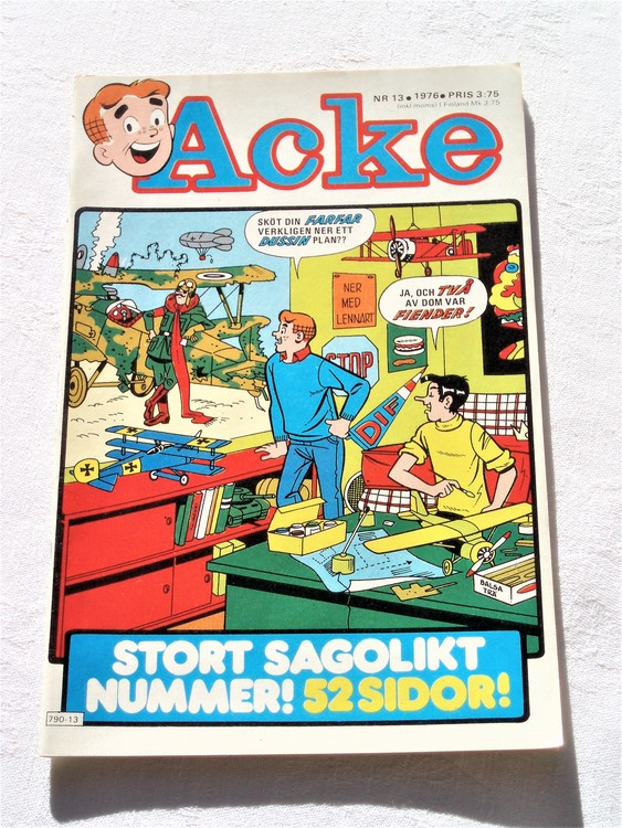 Acke nr 13 1976 mycket bra skick ny skick