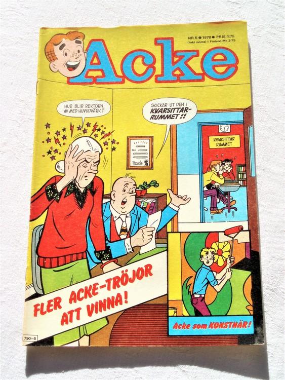 Acke nr 5 1978 mycket bra skick ny skick