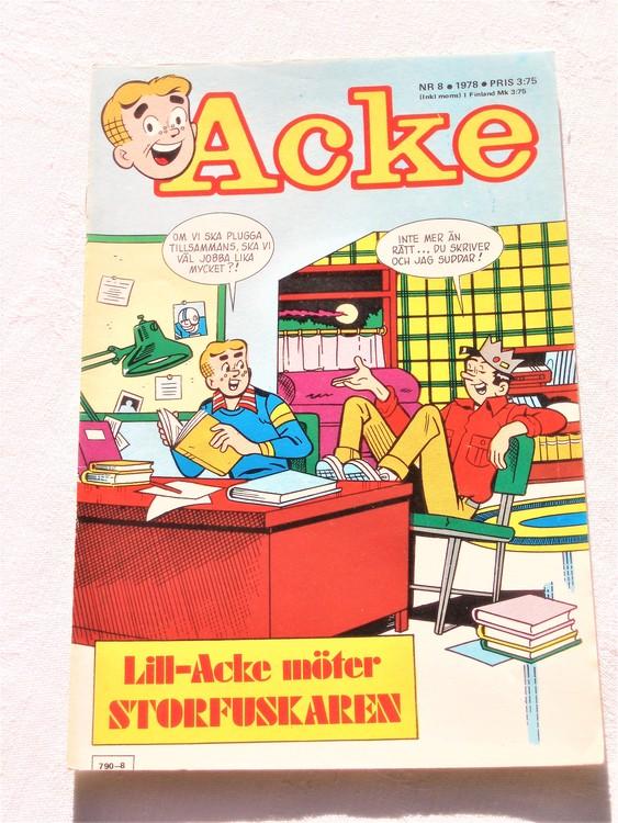 Acke nr 8 1978 korsord ifyllt,normalslitet, normalskick