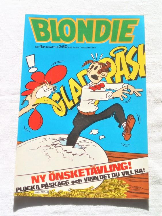 Blondie nr 4 1975 mycket bra skick