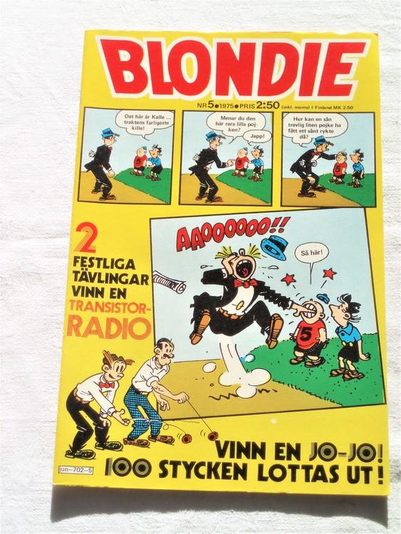 Blondie nr 5 1975 mycket bra skick
