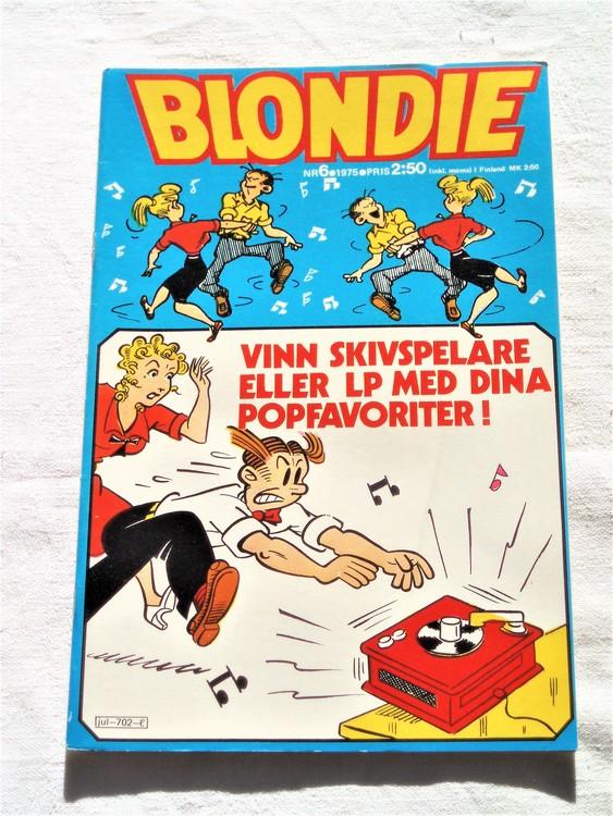 Blondie nr 6 1975 mycket bra skick