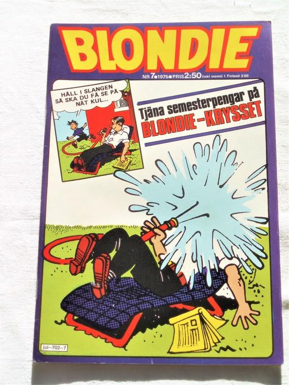 Blondie nr 7 1975 mycket bra skick