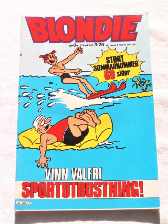 Blondie nr 8 1975 mycket bra skick