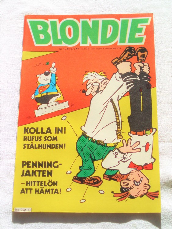 Blondie nr10 1975 mycket bra skick