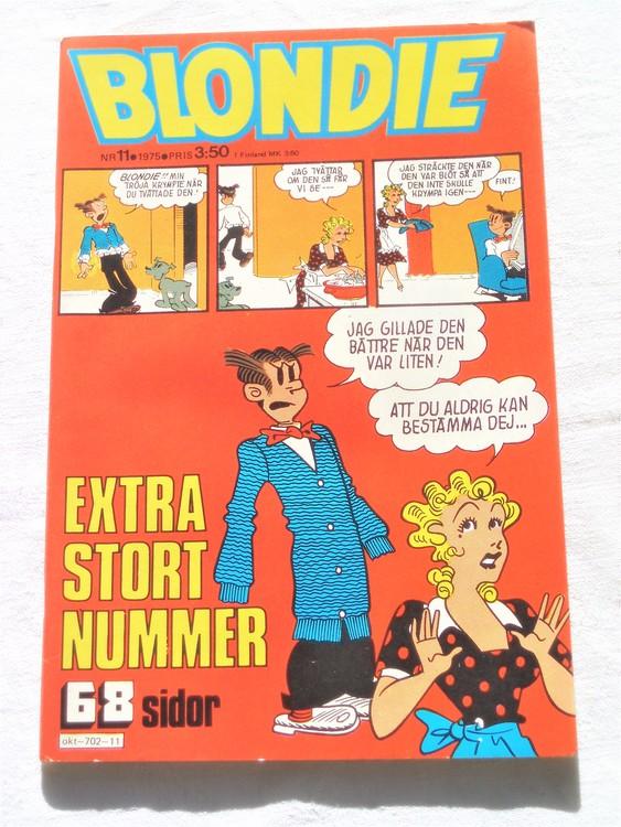 Blondie nr 11 1975 mycket bra skick