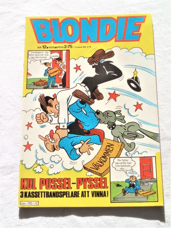 Blondie nr 12 1975 mycket bra skick