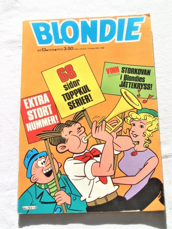 Blondie nr 13 1975 mycket bra skick