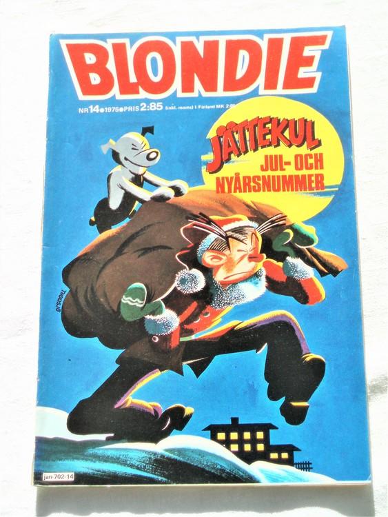 Blondie nr 14 1975 mycket bra skick