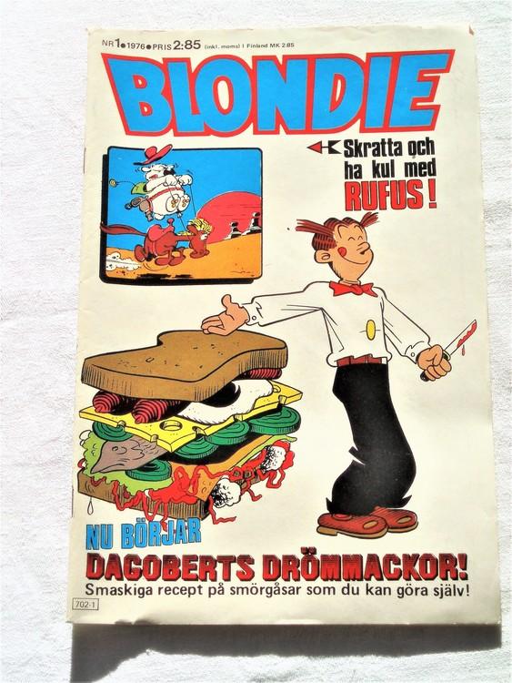Blondie nr 1 1976 mycket bra skick