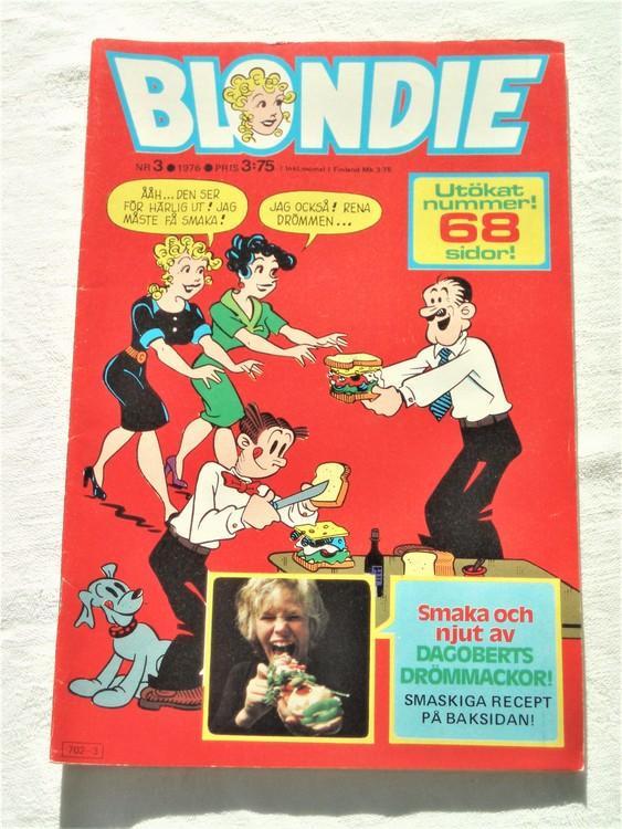 Blondie nr 3 1976 mycket bra skick