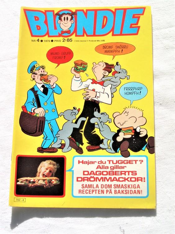 Blondie nr 4 1976 mycket bra skick