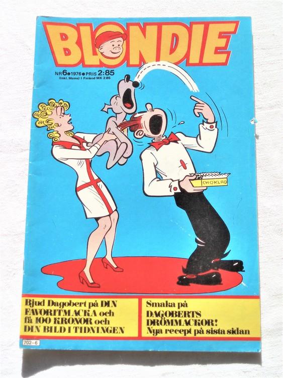 Blondie nr 6 1976 mycket bra skick