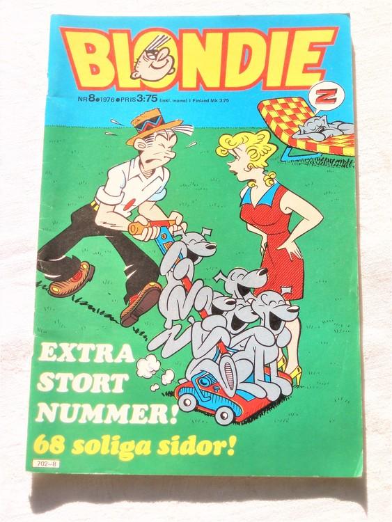 Blondie nr 8 1976 mycket bra skick