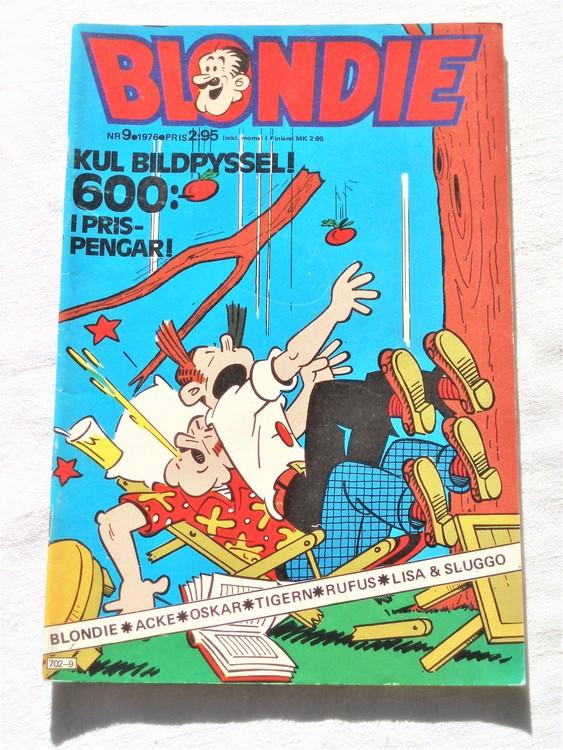 Blondie nr 9 1976 mycket bra skick