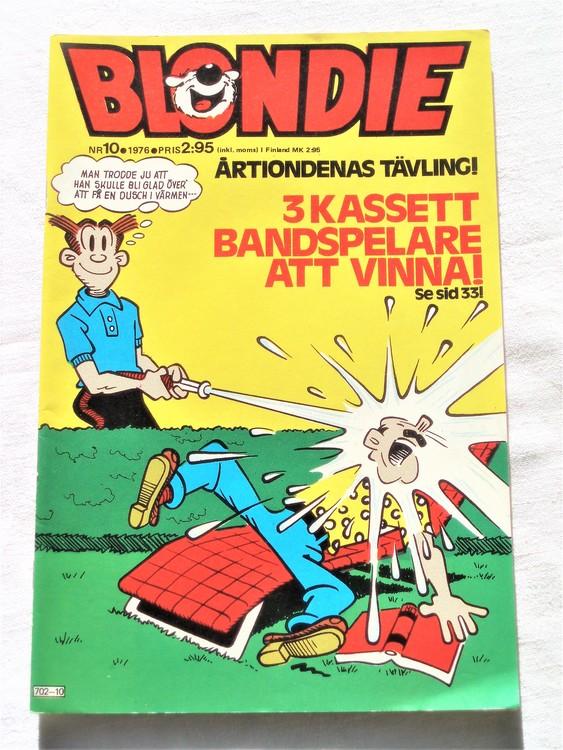 Blondie nr 10 1976 mycket bra skick
