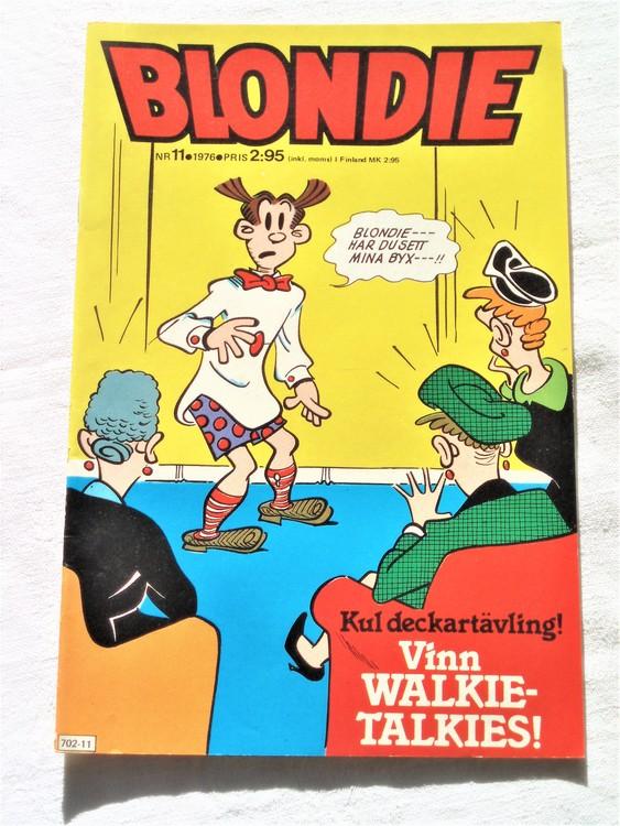 Blondie nr 11 1976 mycket bra skick