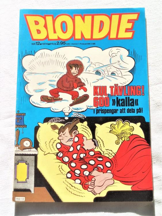 Blondie nr12 1976 mycket bra skick
