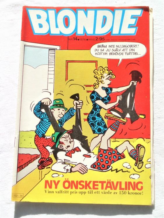 Blondie nr 14 1976 mycket bra skick