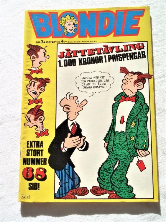 Blondie nr 3 1977 mycket bra skick
