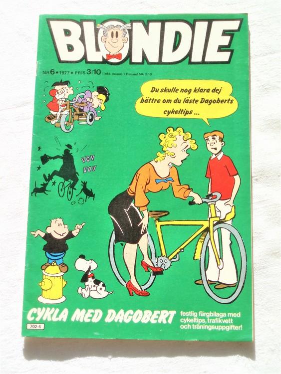 Blondie nr 6 1977 mycket bra skick