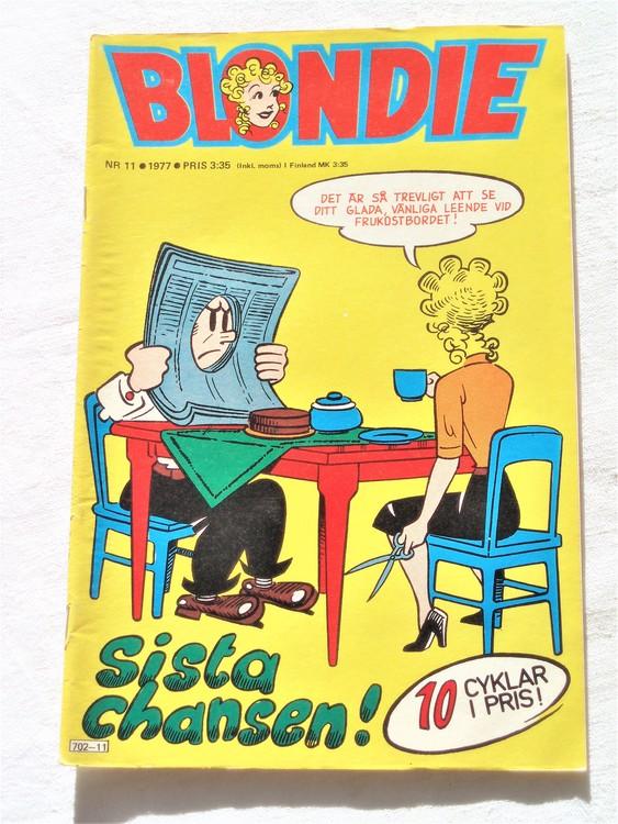 Blondie nr 11 1977 mycket bra skick