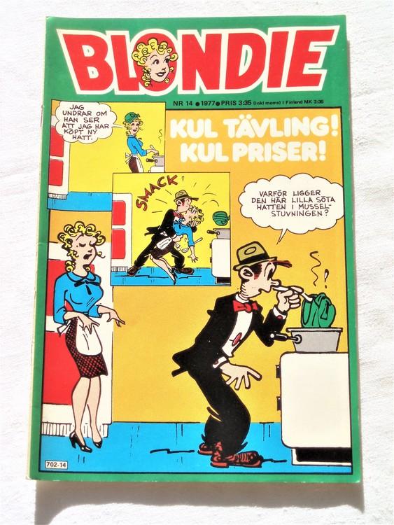 Blondie nr 14 1977 mycket bra skick