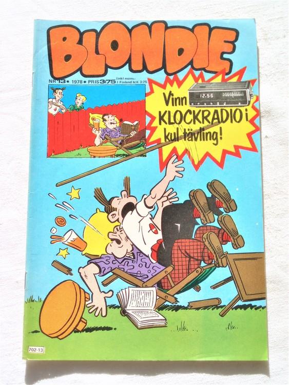 Blondie nr 13 1978 mycket bra skick